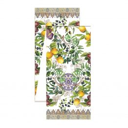 tuscan grove fabric table runner