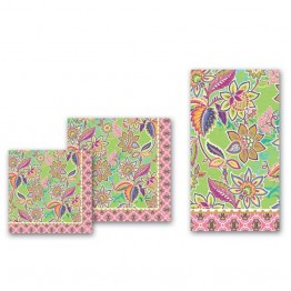 Party Green Floral Napkins