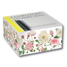 White Roses Sticky Note Pad