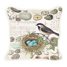 nest & eggs square pillow