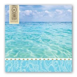 beach luncheon napkins