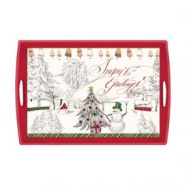 seasons greetings large wooden tray