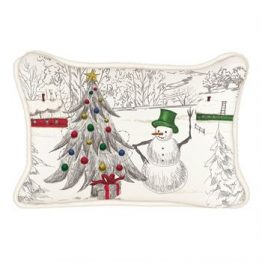 season's greetings rectangle pillow