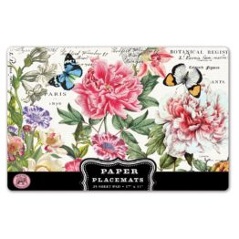 peony paper placemats