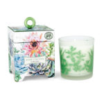 Pink cactus soy wax candle