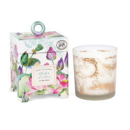 Water lilies soy wax candle