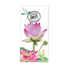 water lillies pocket tissues