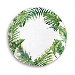 Flamingo Palm Melamine Dinner Plate