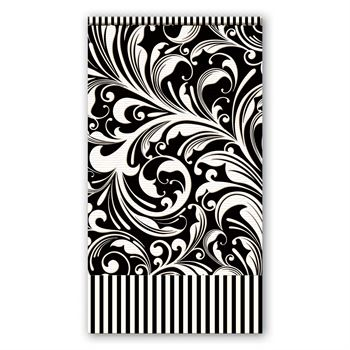 Black Damask Hostess Napkins