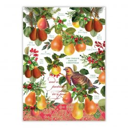 In A Pear Tree tea towel 1