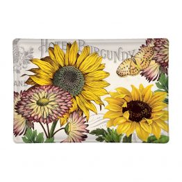 Sunflower glass Soap Dish